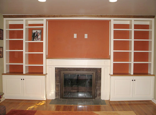 Paul's Woodshop - Projects - Fireplace Surround & Built-in
